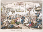 Sailors carousing, or a peep in the long room by George Cruikshank - print