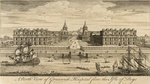 A north view of Greenwich Hospital from the Isle of Dogs by Peter Roberson - print