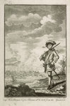 Capt. Hen Morgan before Panama wh. he took from the Spaniards. Plate to Johnson's History of Highwaymen 1734 by James Cundee - print