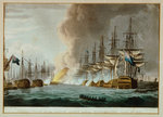 Destruction of the Danish Fleet before Copenhagen, 2 April 1801 by Thomas Whitcombe - print