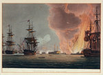 Battle of the Nile, 1 August 1798 by Joseph Mathias Negelen - print
