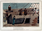 Midshipman Blockhead, Mr B on the Middle Watch, cold blows the wind & the rains coming on by George Cruikshank - print
