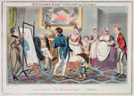 Midshipman Blockhead, Mr B Promoted to Lieut & first putting on his uniform by George Cruikshank - print
