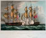 Capture of 'L' Immortalite' 20 October 1798 by Thomas Whitcombe - print