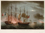 Capture of 'La Desiree', 7 July 1800 by Joseph Mathias Negelen - print