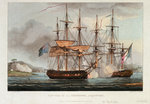 Capture of 'La Chiffonne', 19 August 1801 by Thomas Whitcombe - print