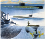 The Submarine Series: Submarine submerged by Richard Paton - print
