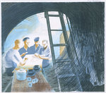 The Submarine Series: The Ward (mess) Room by Richard Paton - print
