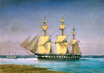 HMS 'Forte' at anchor, no.1018 by James Henry Butt - print