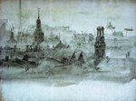 Spires and chimneys by Alma Claude Burlton Cull - print