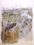 Roofs and Tower Bridge by W.J. Sutton - print