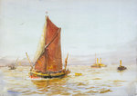 Barge by William Lionel Wyllie - print