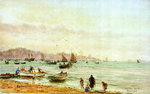 Vigo Bay fishing fleet by William Lionel Wyllie - print