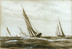 Yachts racing by William Lionel Wyllie - print