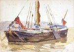 Thames sailing barge by William Lionel Wyllie - print