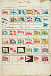 Table of signal flags, both numeral and alphabetical by William Lionel Wyllie - print