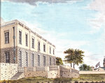 The Queen's House from the north east showing north facade and terrace by George Bulteel Fisher - print