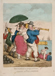 Progress of Gallantry, or Stolen kisses sweetest by George Cruikshank - print