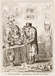 A Cognocenti contemplating ye Beauties of ye Antique by George Cruikshank - print