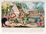 British Resentment of the French fairly Coopt at Louisbourg by George Cruikshank - print