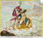 A French Hail Storm, - or - Neptune losing sight of the Brest Fleet by John Thomas Serres - print