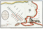 Plan of the commencement of the action between the British & French fleets in the Bay of Bokkier, otherwise Abouker, Bequieres & Bay of Shoals, in the Mouth of the Nile, 1 August 1798 by James Gillray - print