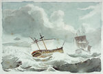 The 'Vanguard' disabled and in tow by the 'Alexander', 22 May 1798 by George Chambers Sr - print