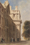 The eastern side of the Queen Anne Court, Greenwich Hospital by Col. Durnford - print