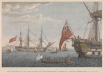 Transfer of Bonaparte from the HMS 'Bellerophon' (1786) to the HMS 'Northumberland' (1798) August 8, 1815 by James Cundee - print