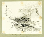 Green Mountain House (Peak 3500 feet) Ascension Island by C. W. Browne - print