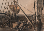 Getting out one of the large buoys for launching August 2nd. ('Great Eastern') by Lemuel Francis Abbott - print