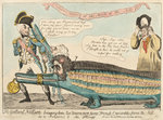 The Gallant Nelson bringing home two Uncommon fierce French Crocodiles from the Nile as a Present to the King by James Gillray - print