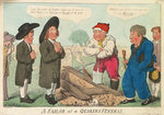A sailor at a Quakers Funeral by George Cruikshank - print