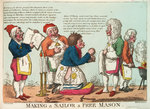 Making a Sailor a Free Mason by George Cruikshank - print
