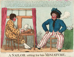 A Sailor Sitting for his Miniature by George Cruikshank - print