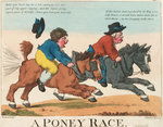 A Poney Race by James Gillray - print