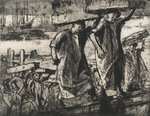 Billingsgate fish porters, 1920