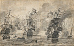 The Battle of Scheveningen, 31 July 1653: the last pass in the battle by Richard Paton - print