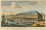 A view of the exchange and the warehouses at Petersburg in Russia by William Hogarth - print