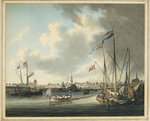 The Duke of Clarence landing at Stade, Prussia, at the mouth of the Elbe, 1785 by Clarkson Stanfield - print