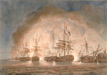 Victory over the French fleet in the Bay of Bequieres, 1 August 1798 by unknown - print