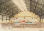 National Maritime Museum, Greenwich. 'Proposed dais, etc for Royal Opening, 1937 by Clarkson Stanfield - print