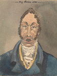 Head and shoulders of a man in blue jacket and white cravat by James Henry Butt - print