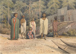 Indians at Fort Rupert, Vancouver's Island, July 1851 [Canada] by Gabriel Bray - print