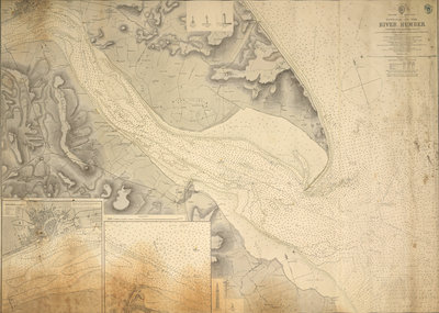England east coast entrance to the River Humber surveyed by Staff Captain J. Parsons, Royal Navy by British Admiralty - print