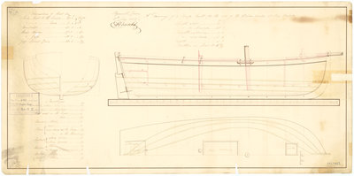 31ft Powder Barge (1825) by unknown - print