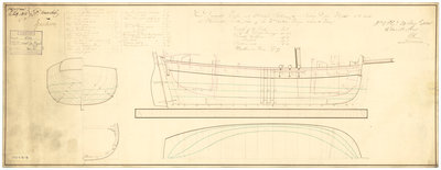 54ft Sailing Vessel (no date) by unknown - print