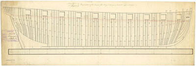 The frame plan of the 'Cruizer' (1797) by unknown - print