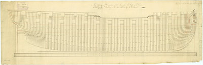 Frame plan for 'Sirius' (1797) by unknown - print