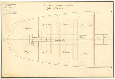 Platform plan of the 'Lutine' (fl, 1793) by Anonymous - print